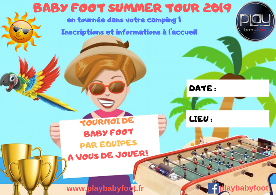Tournoi baby foot summer tour 2019