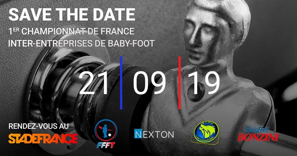 affiche du 1er championnat de France inter-entreprises de baby-foot